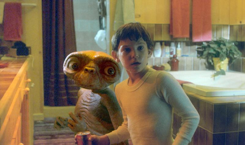 "Henry Thomas on the set of ""E.T."". (Photo by Sunset Boulevard/Corbis via Getty Images)"