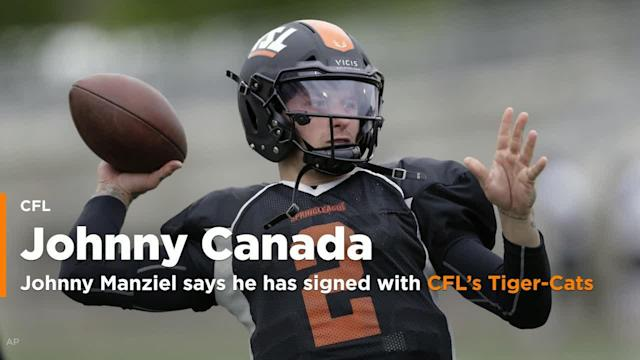 Johnny Manziel is back in football. The former Cleveland Browns' first-round pick who last played in the NFL in 2015, signed with the Canadian Football League's Hamilton Tiger-Cats.