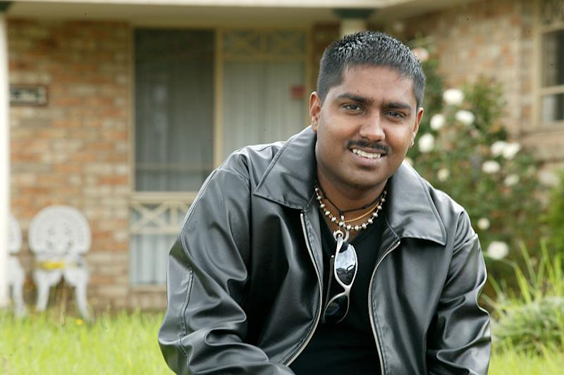 Jai Shalini, outside his first home in Merrylands in western Sydney, 19th January 2006.