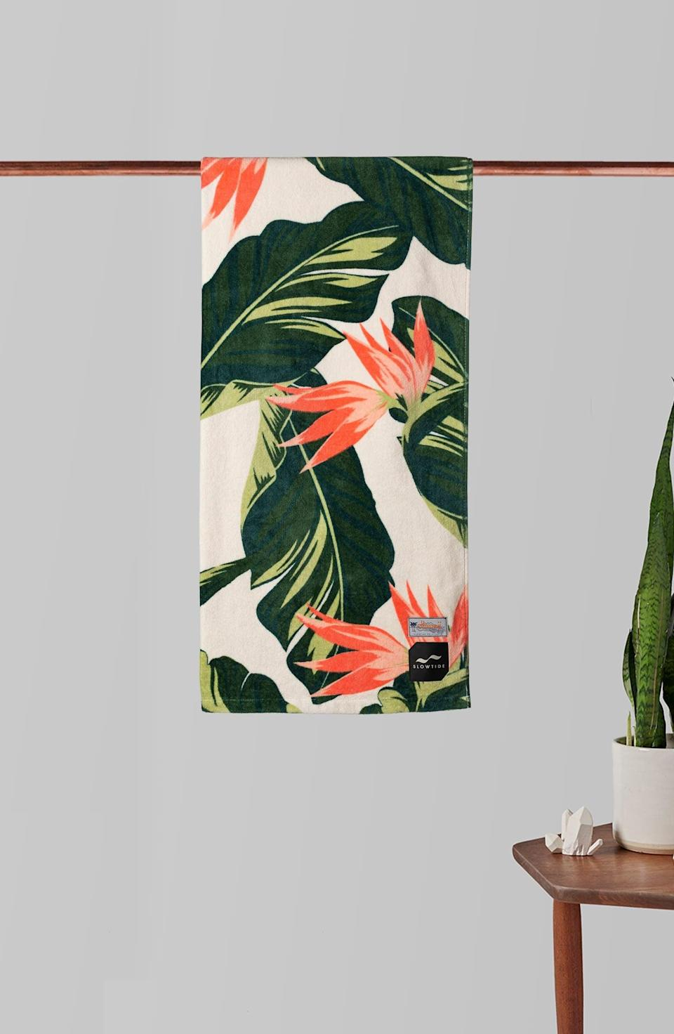 <p>How gorgeous is this <span>Slowtide Mauka Beach Towel</span> ($30)!? Even if you use it at home, you'll feel like you're in your own oasis. </p>