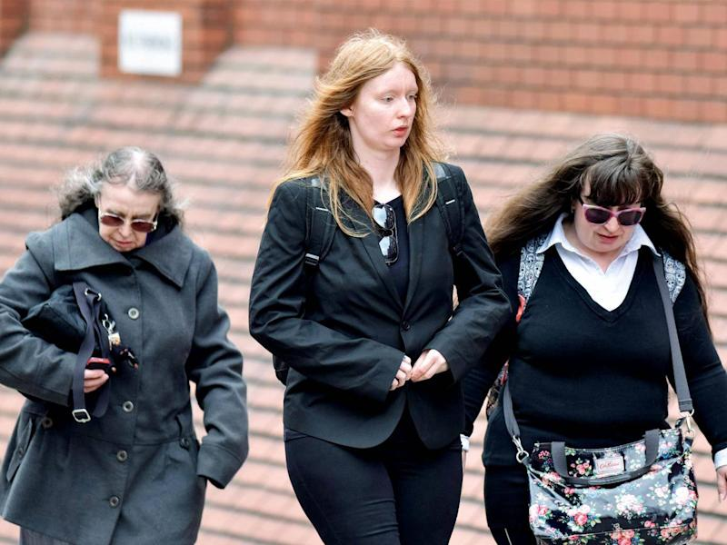 (l to r) Denise Cranston, Abigail Burling and Dawn Cranston are accused of manslaughter (SWNS)
