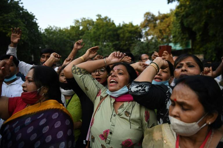 The gang-rape and murder of a 19-year-old woman has triggered protests across India
