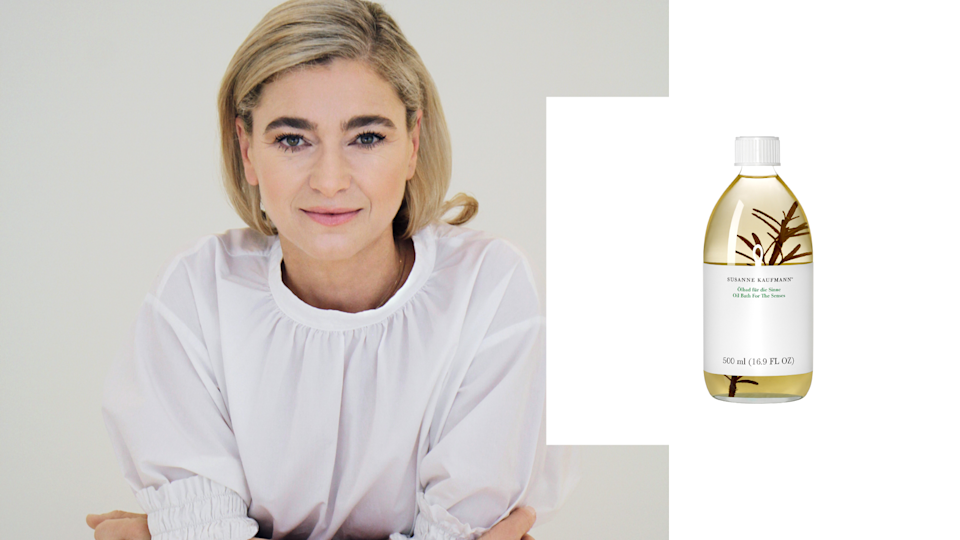 """<p>Growing up in the Alps, it's no surprise that Susanne Kaufmann learned more than a thing or two about how beneficial nature is to self-care. Her eponymous skin care line integrates natural ingredients from the great outdoors into luxe oils, making for the perfect escape. <br><br>Oil Bath for the Senses, $76, <a href=""""https://www.net-a-porter.com/us/en/product/463671/susanne_kaufmann/essential-bath-oil-for-the-senses--250ml"""" rel=""""nofollow noopener"""" target=""""_blank"""" data-ylk=""""slk:net-a-porter.com"""" class=""""link rapid-noclick-resp"""">net-a-porter.com</a>. (Art by Quinn Lemmers for Yahoo Lifestyle) </p>"""