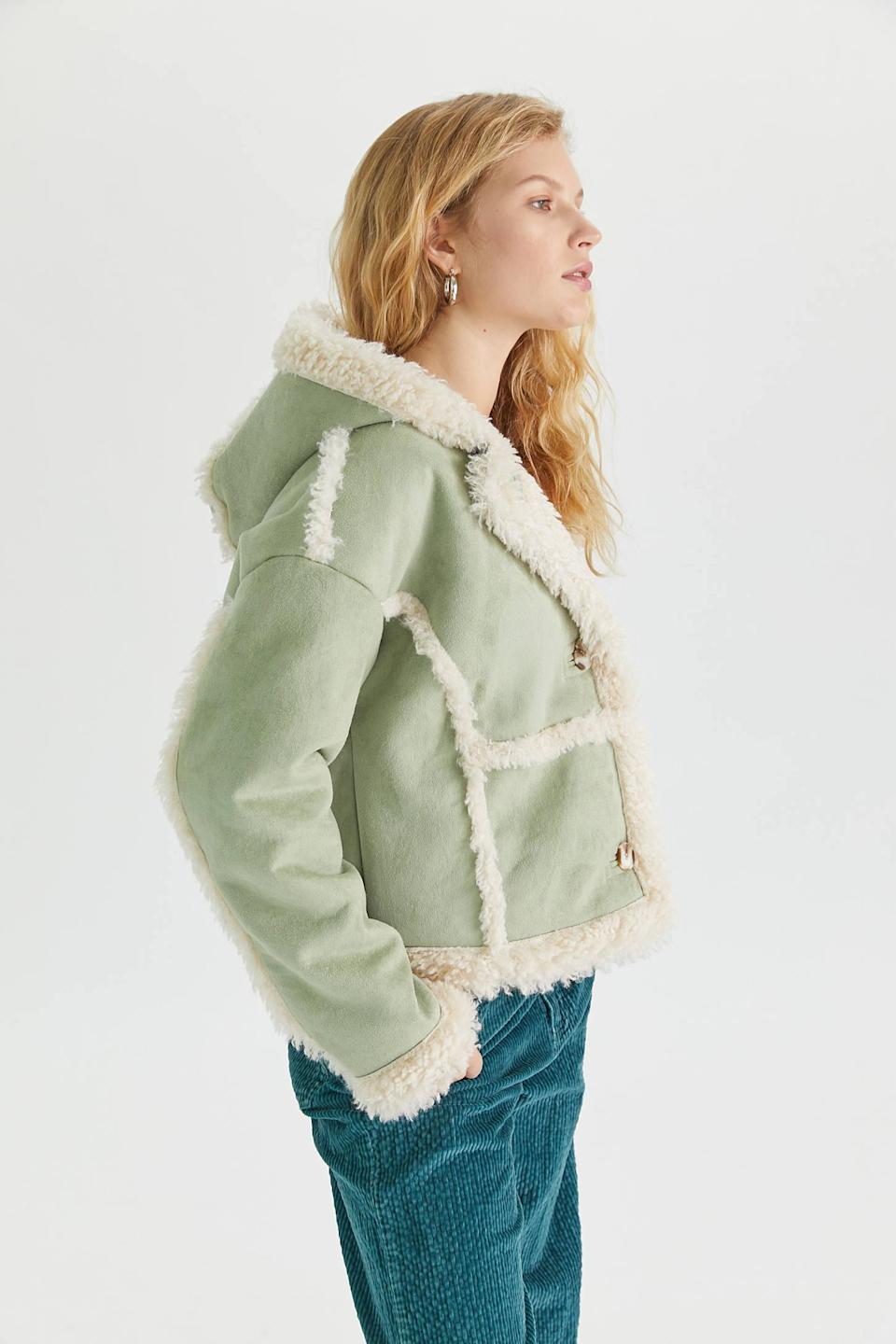"<br><br><strong>Urban Outfitters</strong> Melanie Faux Shearling Jacket, $, available at <a href=""https://go.skimresources.com/?id=30283X879131&url=https%3A%2F%2Fwww.urbanoutfitters.com%2Fshop%2Fuo-melanie-faux-shearling-jacket"" rel=""nofollow noopener"" target=""_blank"" data-ylk=""slk:Urban Outfitters"" class=""link rapid-noclick-resp"">Urban Outfitters</a>"