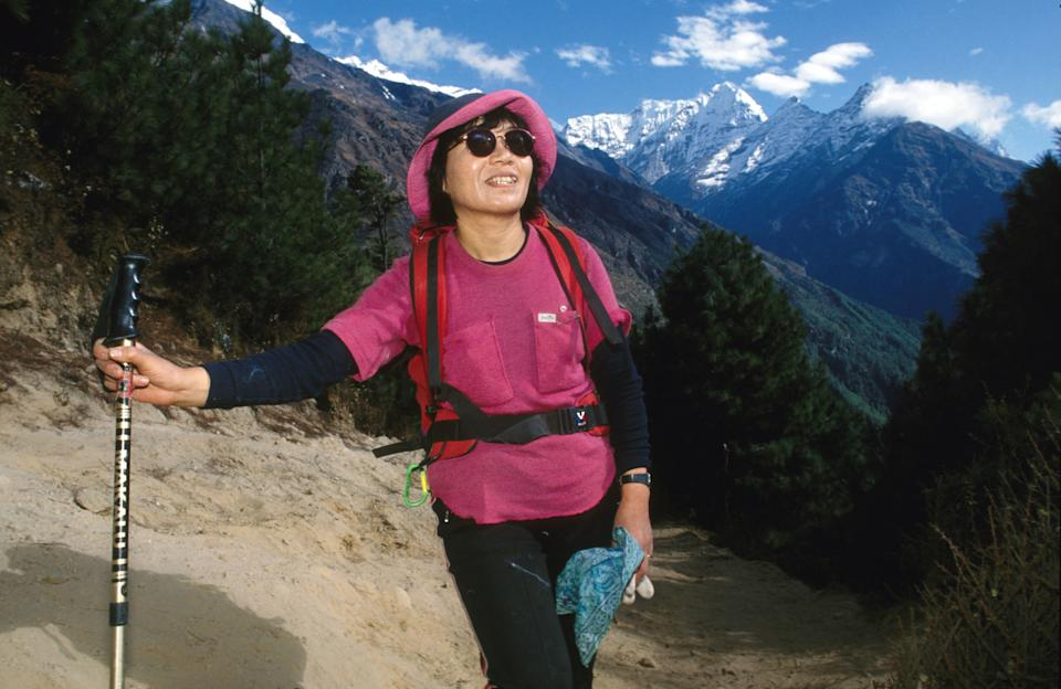 Junko Tabei was the first woman to reach the summit of Everest on May 16, 1975, at the age of 35. (Photo by John van Hasselt/Corbis via Getty Images)