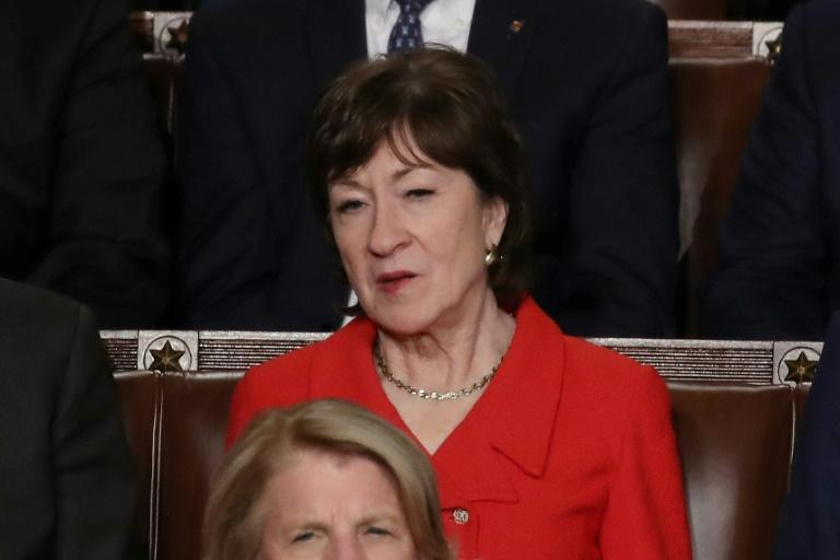 Senator Susan Collins was among Republicans to buck their party's leadership and vote to restrain President Donald Trump's ability to wage war on Iran (AFP Photo/Drew Angerer)