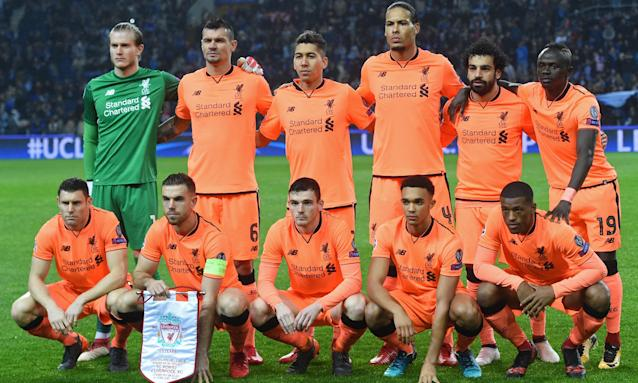 The Liverpool players before their historic five-goal victory over Porto. They now have their sights set on the Champions League final.
