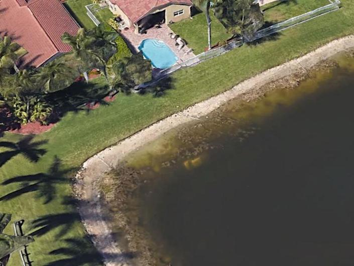 The submerged car had been visible on Google Earth satellite images since 2007: Google Earth