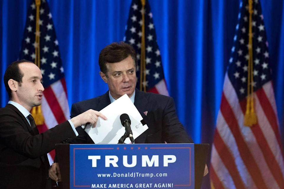 Mr Manafort served as Donald Trump's campaign manager for three months (Getty)
