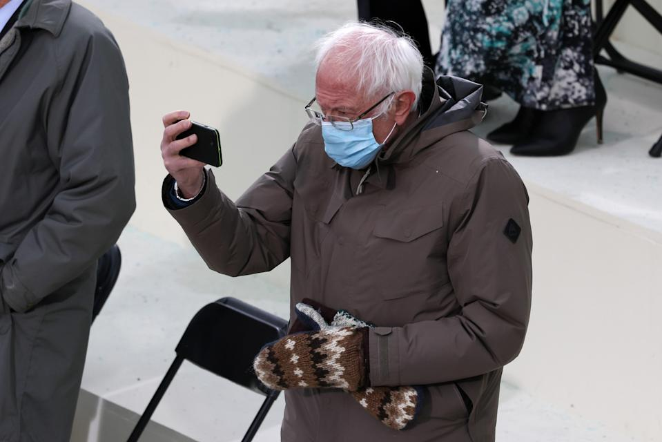 Last but not least, we couldn't forget Bernie Sanders. He might not be donning full regalia but nobody can argue that his look <em>is</em> a real mood and that's the essence of being iconic.
