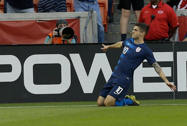 Christian Pulisic scored early for the U.S. against Chile, but the Americans were lucky to escape with a 1-1 tie in Houston. (Bob Levey/Getty)