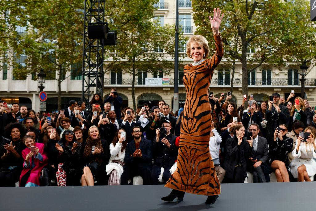 <p><strong>When: Oct. 1, 2017</strong><br />Fonda walks the runway in a fitted leopard print dress during the L'Oreal Paris Spring Summer 2018 show as part of Paris Fashion Week. (<em>Photo: Getty</em>) </p>