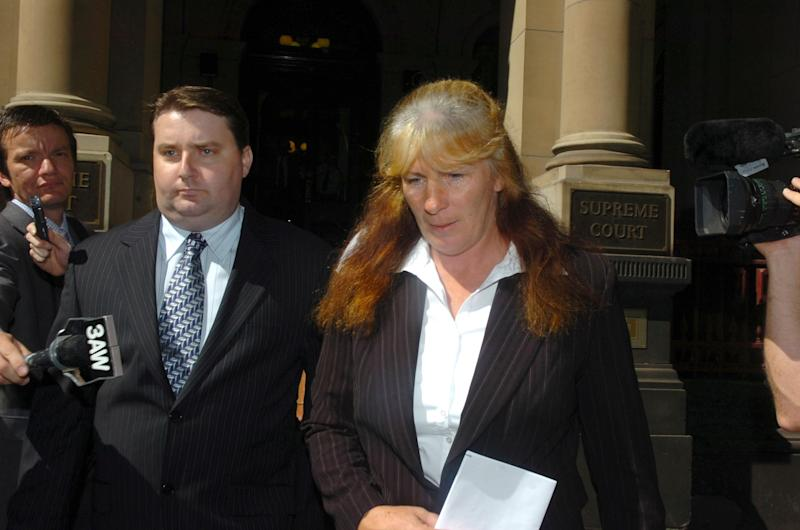 Diane Griffey walks from the Melbourne Supreme Courts, Thursday, March 9, 2006, after she was released on bail.