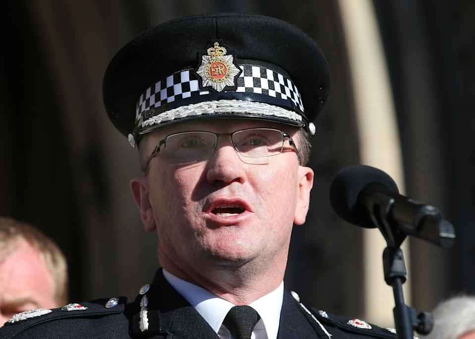 File photo dated 23/05/17 of Greater Manchester Chief Constable Ian Hopkins who has revealed that he shed tears after talking with the families of the 22 victims murdered in the Manchester Arena bombing.