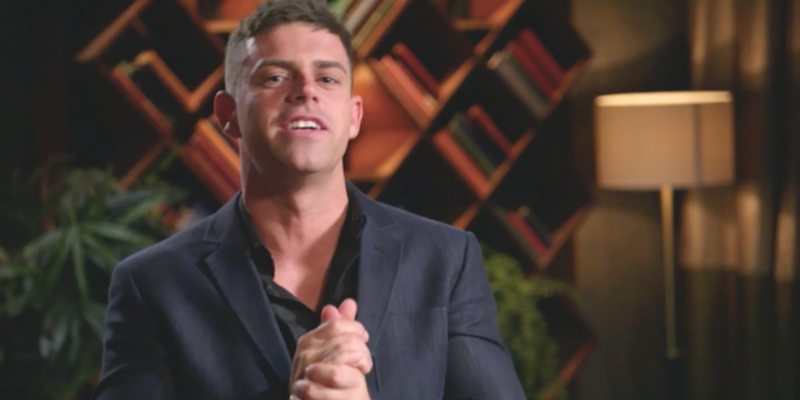 MAFS Michael talks to camera during dinner party Married at First Sight 2020
