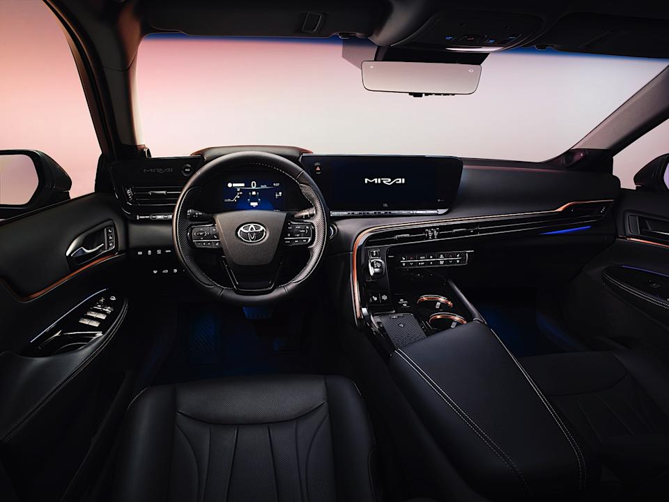Press images of the second-generation Toyota Mirai (2020)