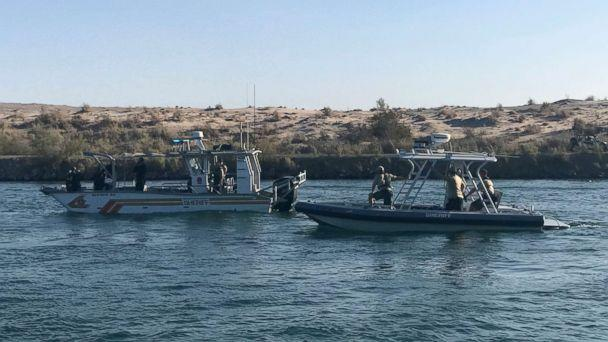 PHOTO: Law enforcement responds to a boating crash on the Colorado River, Sept. 2, 2018. Two vessels collided the night before. (San Bernardino County Sheriff)