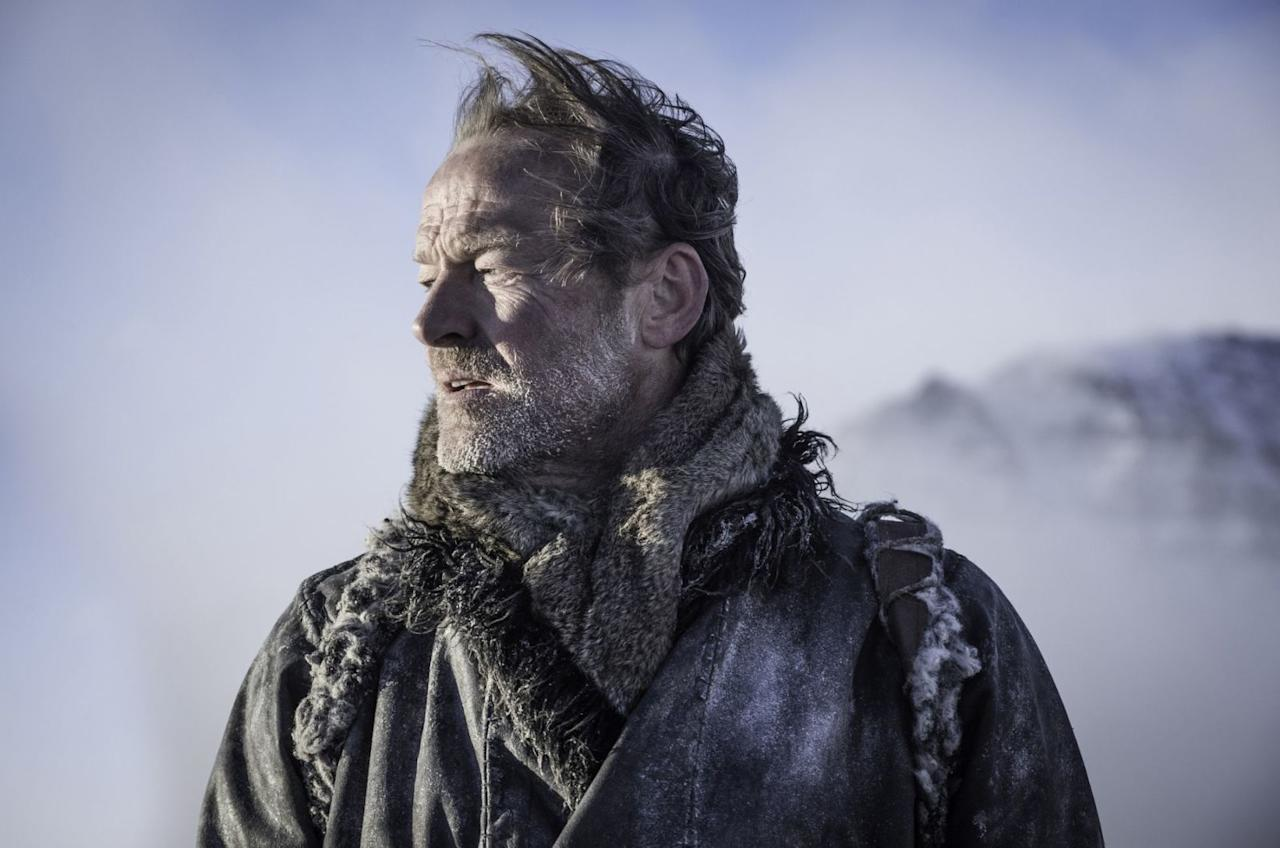 <p>First greyscale, now wind-chill for Ser Jorah.</p>
