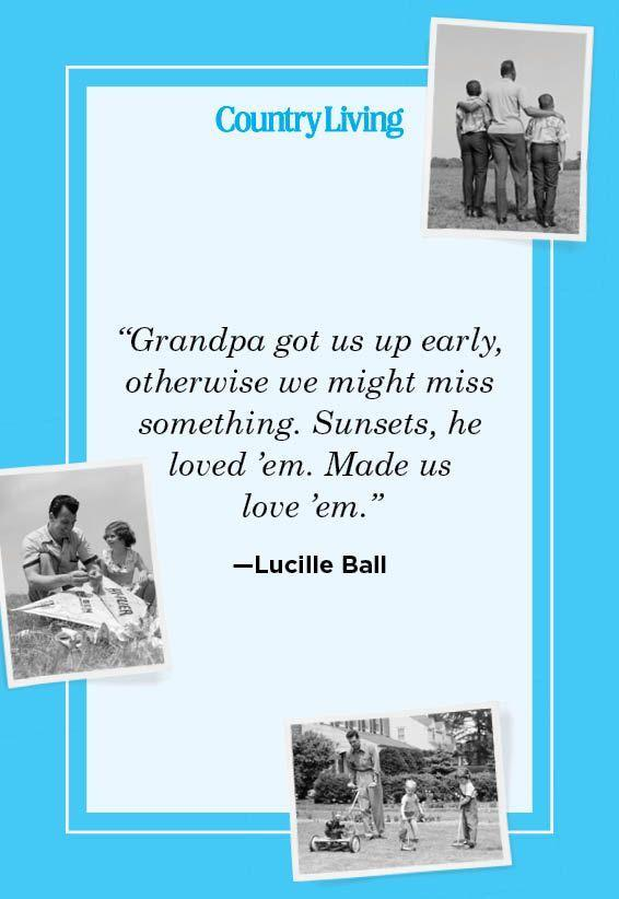 """<p>""""Grandpa got us up early, otherwise we might miss something. Sunsets, he loved 'em. Made us love 'em.""""</p>"""