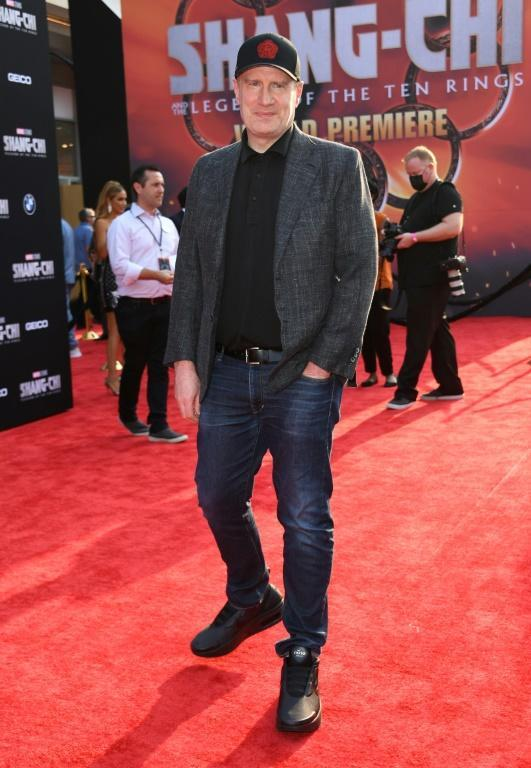 Marvel Studios president Kevin Feige has sought to bat away criticism that the film panders to Western stereotypes of China (AFP/VALERIE MACON)