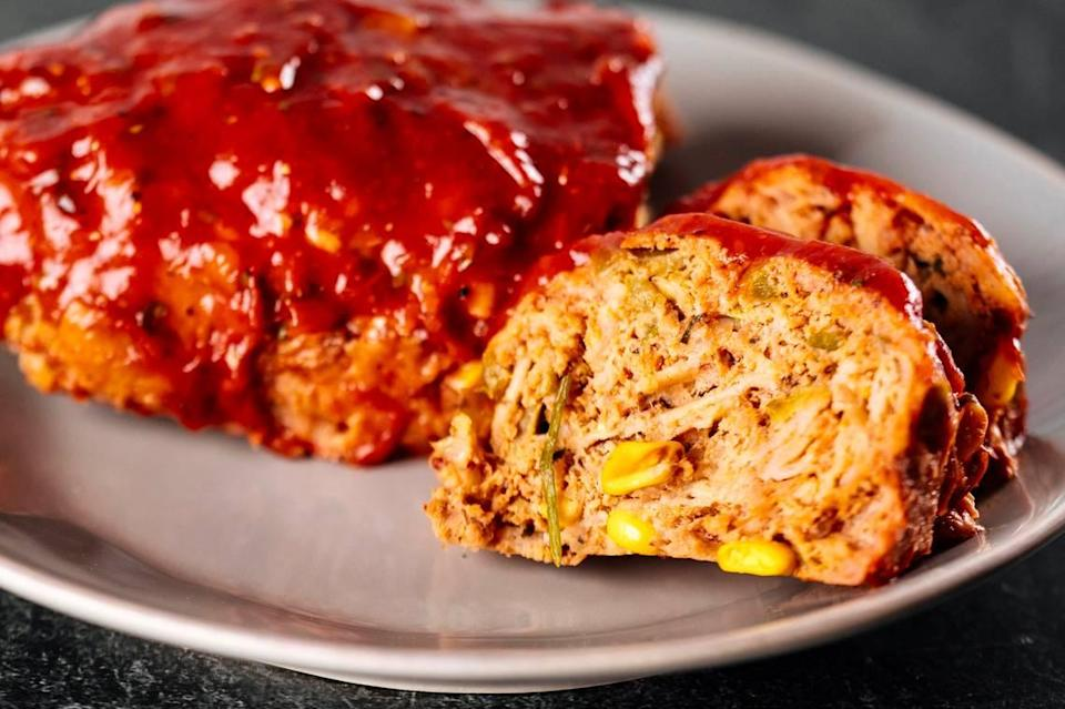Turkey meatloaf with Hatch green chile at Eatzi's Market & Bakery.
