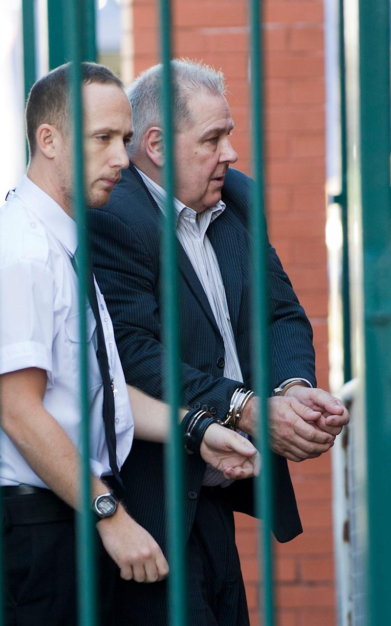 Stephen Hough (right) arriving at Llandudno Magistrates' Court - Credit: Andrew Price