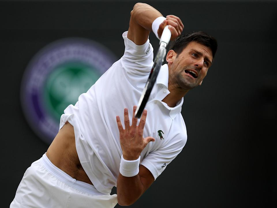 Second seed Novak Djokovic retired from his quarter-final due to injury: Getty