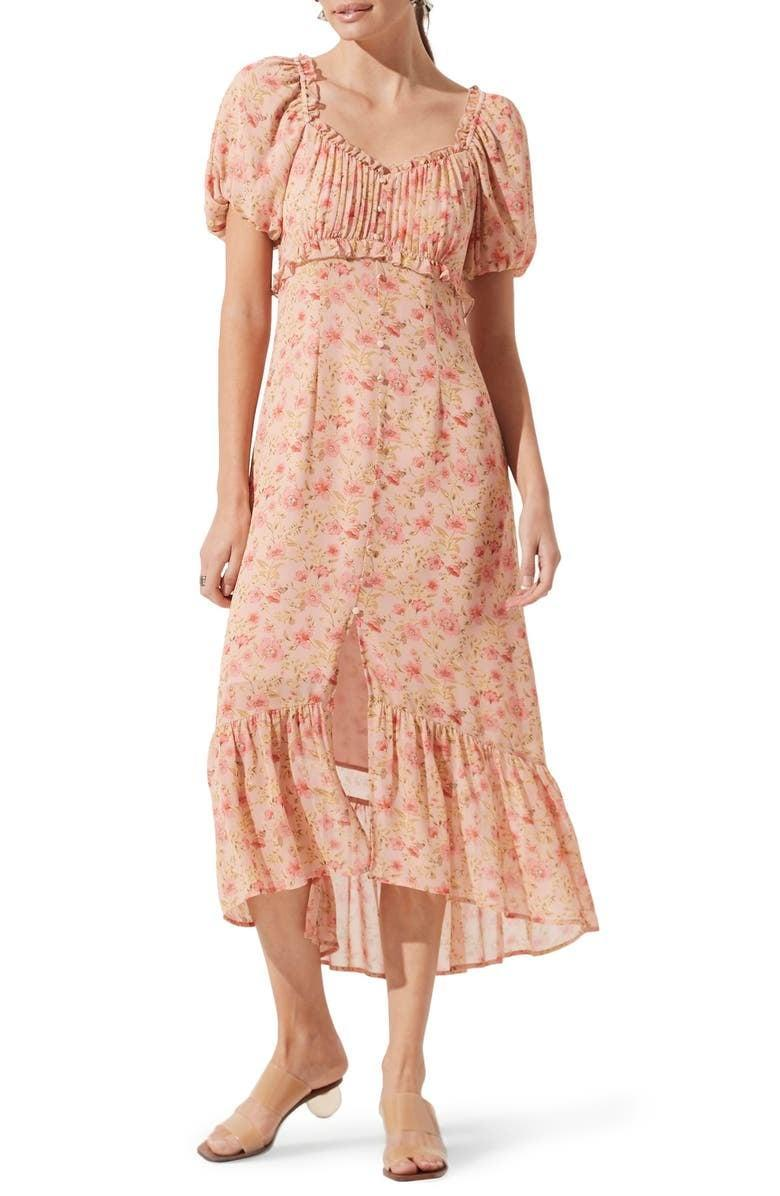 <p>We love the romantic look of this <span>ASTR the Label Balloon-Sleeve Midi Dress</span> ($89).</p>