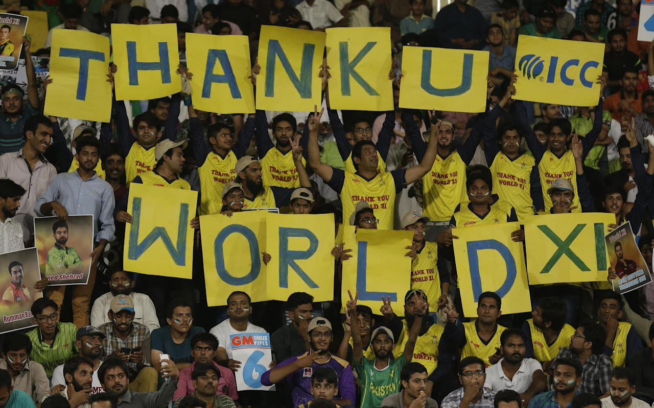 <p>Eight years since the attack on Sri Lankan team, no one was willing to tour Pakistan until this year. The Gaddafi stadium at Lahore was lit up as the World XI comprising of big names across all nations barring India challenged the home team. The hosts came out victorious in the series much to their fans' delight. </p>
