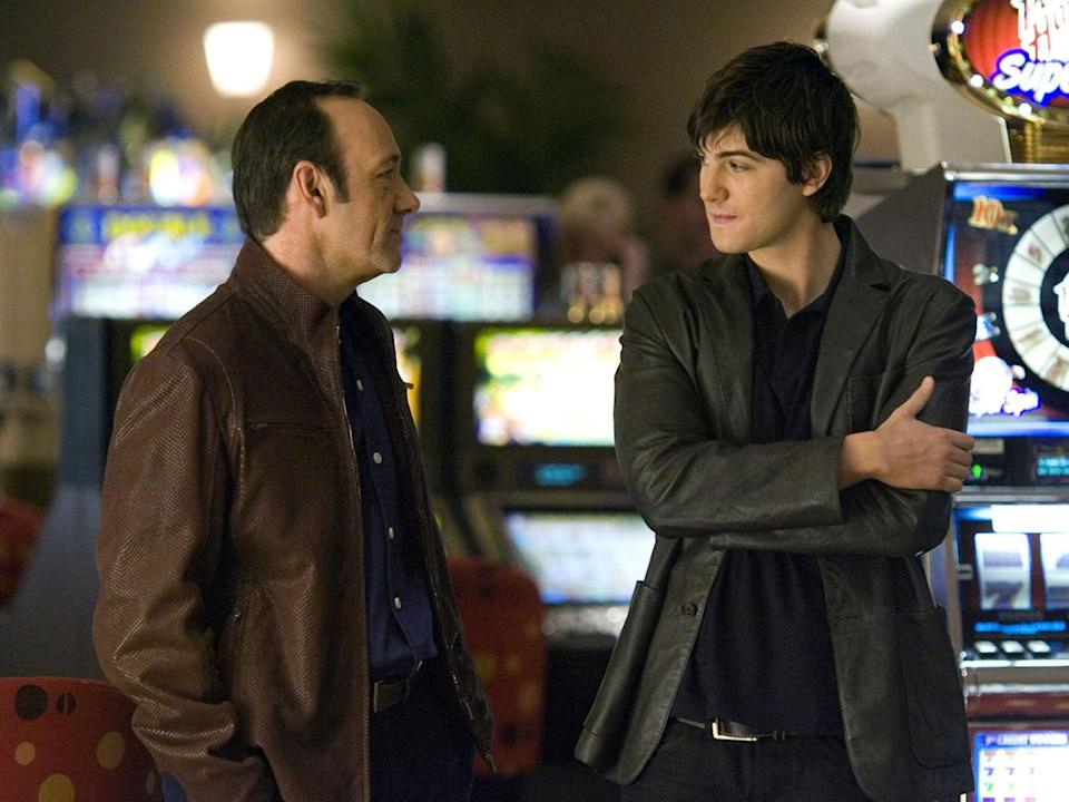 Star vehicle: Sturgess and Kevin Spacey in '21' (Moviestore/Shutterstock)