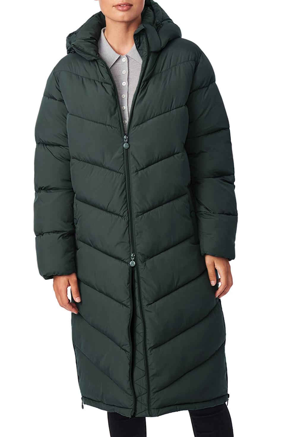 Bernardo Recycled Micro Touch Water Resistant Packable Jacket. Image via Nordstrom.