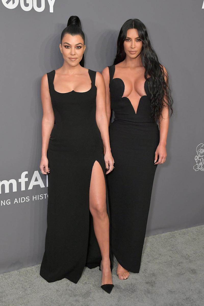 Kourtney Kardashian and Kim Kardashian West (Wire Image)