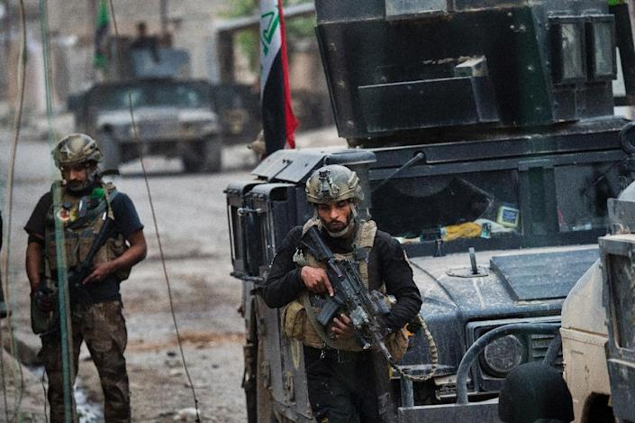 Iraqi forces have broken into jihadist-held Mosul and recaptured neighbourhoods inside the city, but a month into their offensive, there are still weeks or more of potentially heavy fighting ahead (AFP Photo/Odd Andersen)