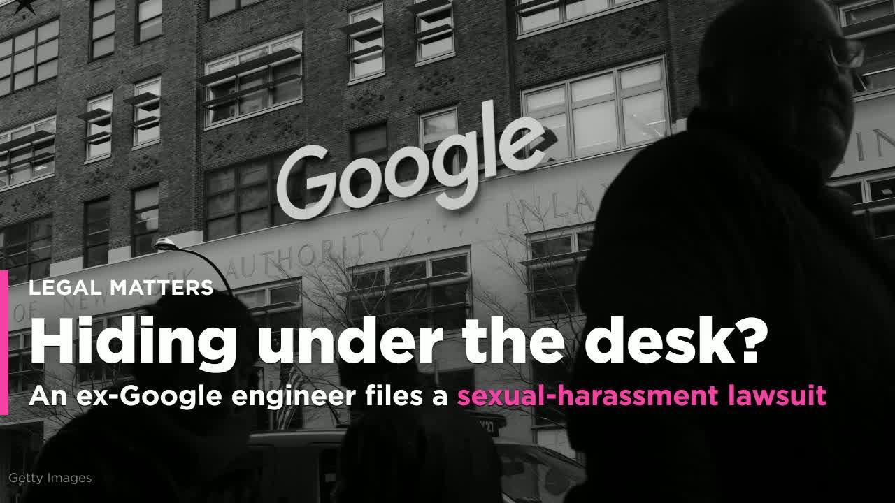 An ex-Google engineer's sexual-harassment lawsuit claims she found a male  coworker hiding under her desk (GOOG)