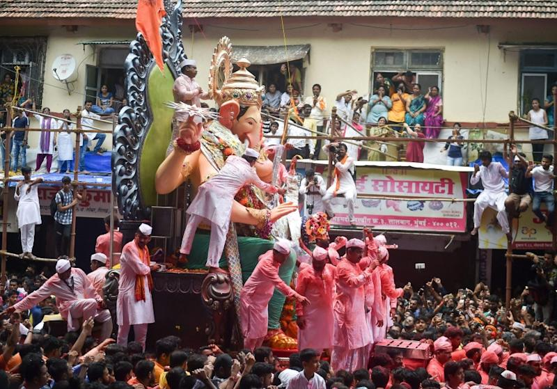 The normal imposing, 15-feet plus tall idol of Lalbaugcha Raja, and other mega-idols in Mumbai, Pune and other cities will be conspicuous by their absence in the Maharashtra Ganeshotsav celebrations. (Image: PTI)