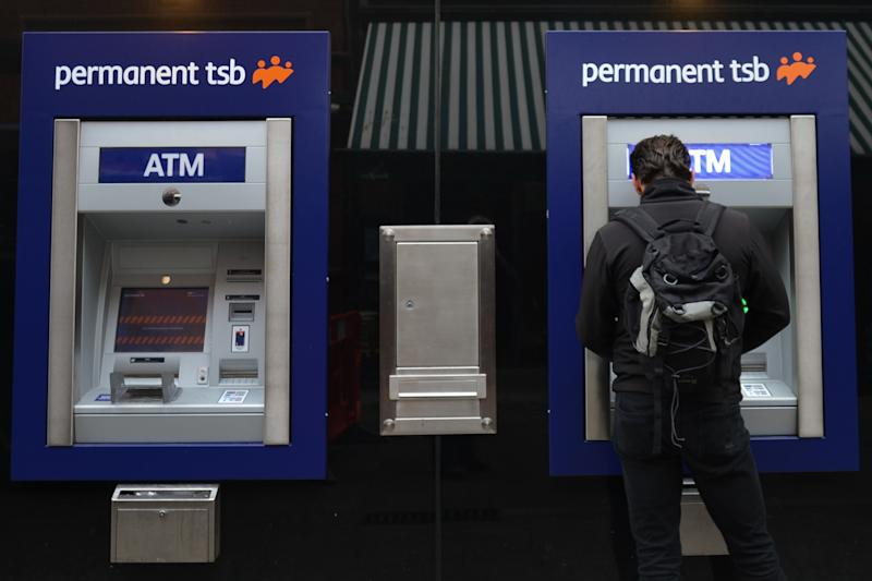 A view of the Permanent TSB cash machines in Dublin City Center. On Thursday, November 22, 2018, in Dublin, Ireland. (Photo by Artur Widak/NurPhoto via Getty Images)