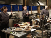 """<p>Five chefs are chosen each episode, but only four compete—the fifth one is a <a href=""""https://www.insider.com/chopped-facts-secrets-2018-6"""" rel=""""nofollow noopener"""" target=""""_blank"""" data-ylk=""""slk:back-up contestant"""" class=""""link rapid-noclick-resp"""">back-up contestant</a>. """"As a standby, I had to show up and be prepared just like the real contestants. The night before I sharpened my knives and laid out my shoes and comfortable clothes. I set the alarm for 4:30 a.m.,"""" Julianne Feder told <a href=""""https://www.thrillist.com/eat/nation/chopped-food-network-tv-show-try-out"""" rel=""""nofollow noopener"""" target=""""_blank"""" data-ylk=""""slk:Thrillist"""" class=""""link rapid-noclick-resp"""">Thrillist</a>.<br></p>"""