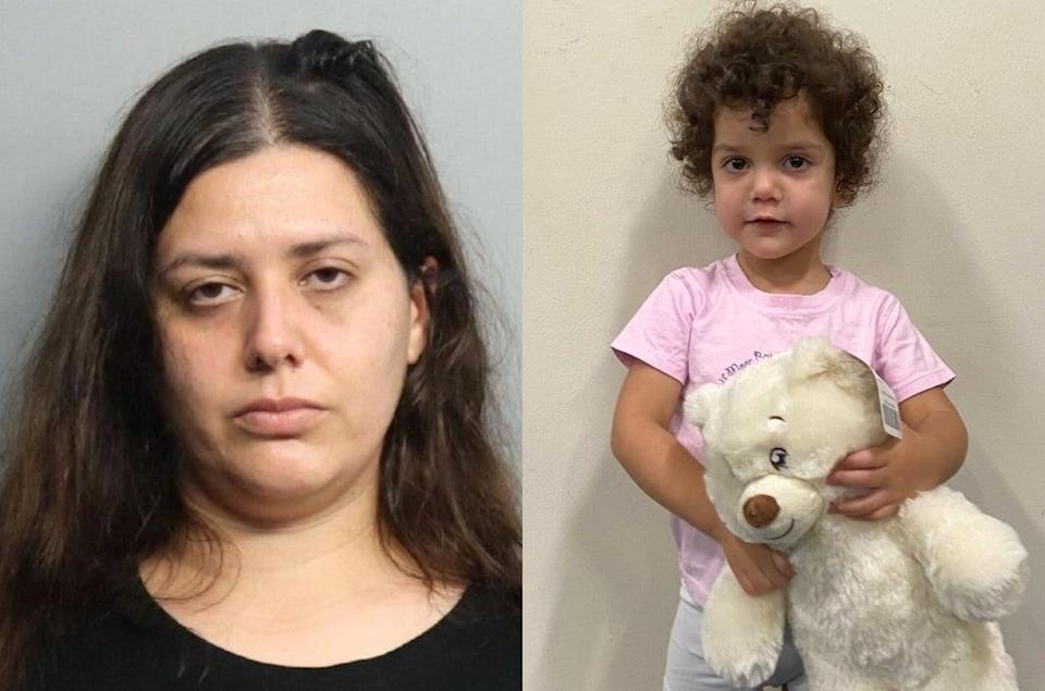 Carolina Vizcarra left her daughter with two strangers at a Florida hospital on 12 October  (Miami police)