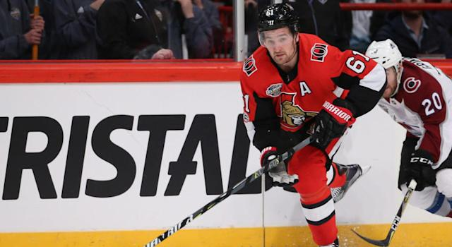 "<a class=""link rapid-noclick-resp"" href=""/nhl/players/5152/"" data-ylk=""slk:Mark Stone"">Mark Stone</a> has been criminally underrated for the vast majority of his career. (Andre Ringuette/NHLI via Getty Images)"