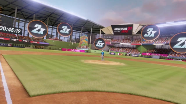 Last season, MLB brought an experimental VR Home Run Derby game to special events and stadiums, this spring it's launching an console version for at-home gamers. (Video courtesy of MLBAM).