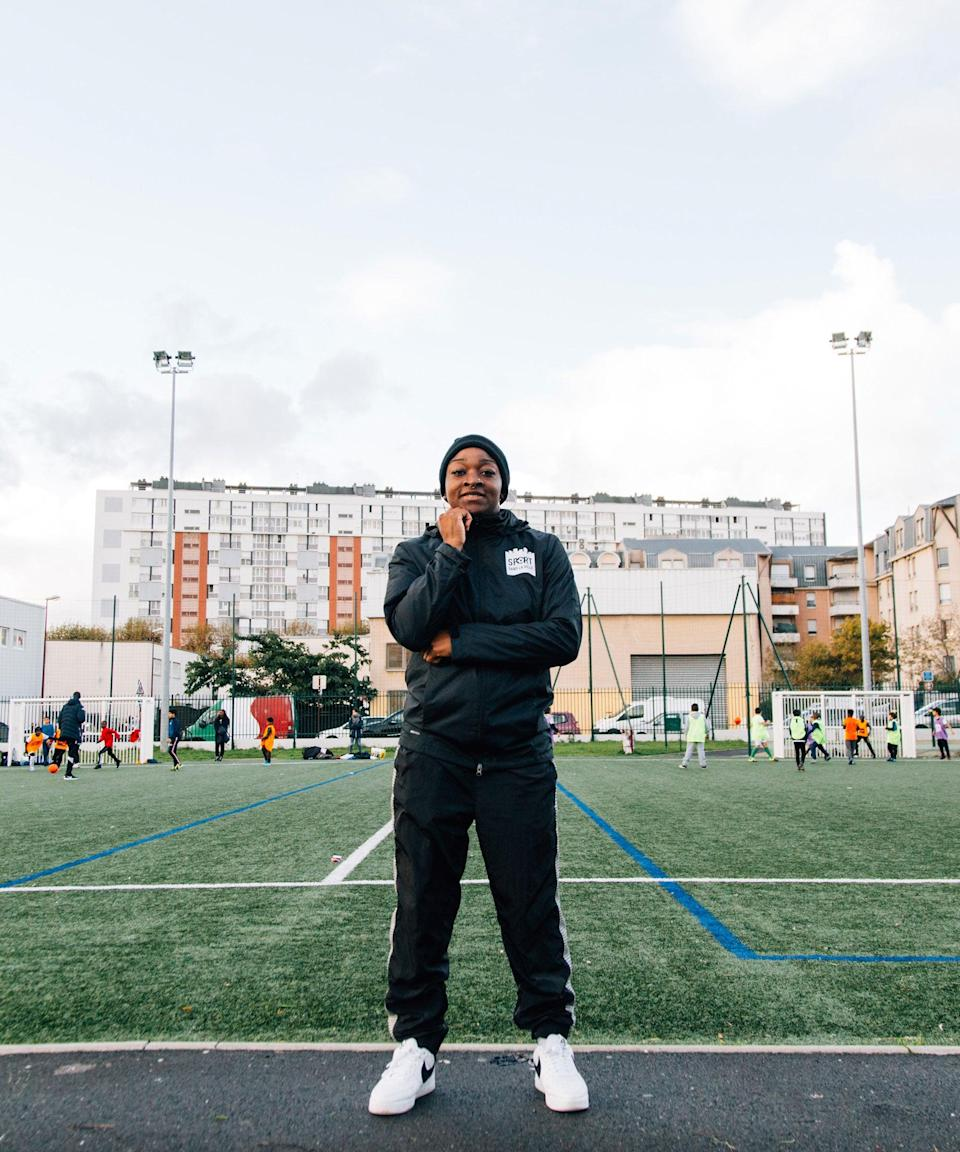 """<strong>I want to show girls and boys that just because I'm a girl, it doesn't mean I can't teach them values""</strong><br><strong><em>Prudence, 22, Paris</em></strong><br><br>Prudence was born and raised in Bondy, an underserved Parisian suburb just a few miles – but a world away – from central Paris. ""We're in a very difficult area. It's hard to bring sport into this territory,"" she says. Prudence works as a dance teacher and football coach through the Nike community partner organisation Sports dans la Ville, which helps young people to integrate and teaches them life skills through sport.<br><br>The odds are stacked against kids in Bondy, and Prudence often meets girls and boys who are not only inactive but who have never encountered sports in their lives. ""The most difficult is to see children who have never had any physical education. They don't have the possibility to do sports every day. We bring sports to them, we help them and push them to do things they've never done.""<br><br>Prudence is eager to break down gender barriers in sport and is working hard to get girls onto the football pitch. She also volunteers to teach a girls-only dance class every Saturday. ""As a female coach, I want to show girls and boys that just because I'm a girl, it doesn't mean I can't teach them values."""