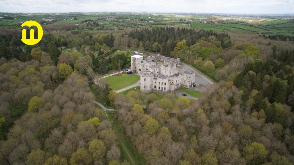 <p>The Northern Ireland castle is surrounded by 590 acres of forest preserve so it's pretty secluded. Source: Maison Real Estate </p>