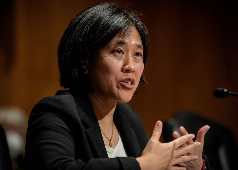 FILE PHOTO: U.S. Senate Finance Committee conducts hearing on nomination of Katherine Tai to be U.S. Trade Representative.