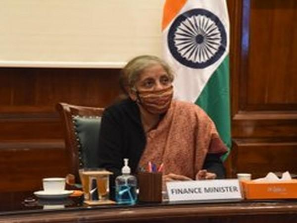 Union Finance Minister Nirmala Sitharaman at the meeting on Thursday.