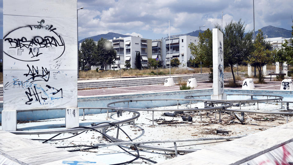 The former Olympic Village, pictured here in Athens, Greece.