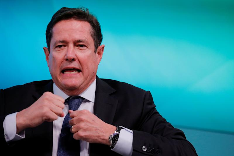 Chief executive officer of Barclays, Jes Staley, takes part in the Yahoo Finance All Markets Summit in New York, U.S., February 8, 2017. REUTERS/Lucas Jackson