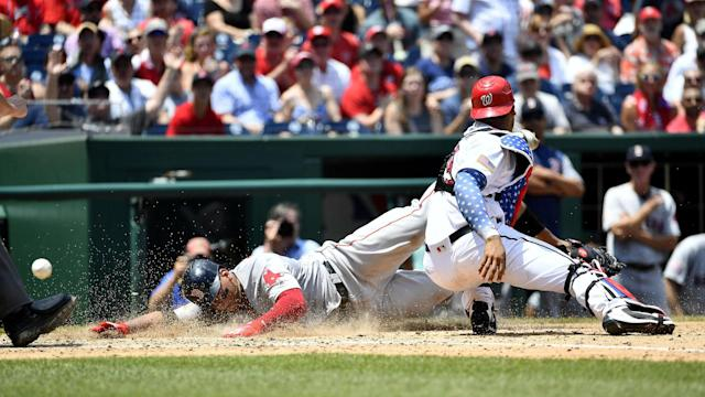 <p>The Boston Red Sox finished off a sweep of the Washington Nationals on Wednesday in a 3-0 victory. The Nats fell to below .500 for the first time since 2015.</p>