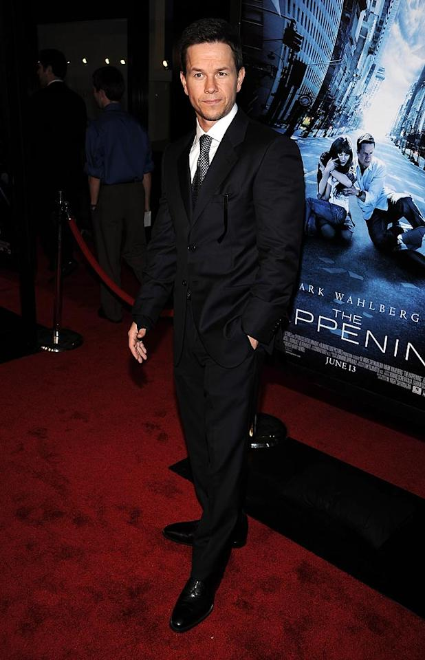 """<a href=""""http://movies.yahoo.com/movie/contributor/1800019716"""">Mark Wahlberg</a> at the New York City premiere of <a href=""""http://movies.yahoo.com/movie/1809921595/info"""">The Happening</a> - 06/10/2008"""