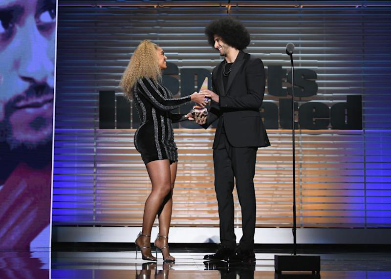 Beyoncé surprised Colin Kaepernick with an award, and Twitter is weeping with joy