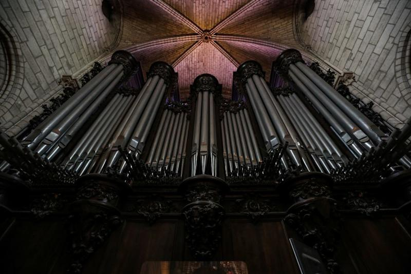 The organ at Notre Dame de Paris Cathedral (Picture: AFP/Getty)